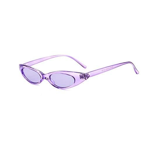 Eye Frame Lunettes Small Dames Cat Femmes Purple Ovales Soleil Gjyanjing Vintage De xB7zCYCwq