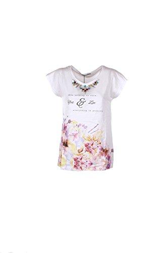 T-shirt Donna Yes-zee XL Bianco T218 V100 Primavera Estate 2017