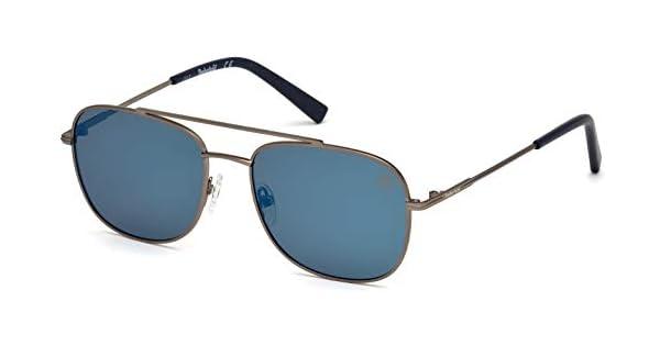 Amazon.com: Gafas de sol Timberland TB 9122 09D metal/humo ...