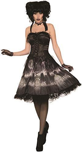 Ladies Vintage Graveyard Bride Gothic Dark Halloween Horror Fancy Dress Costume Outfit ()