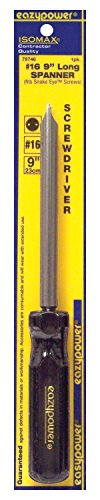Eazypower 79746 1-Pack #16 Spanner Security Isomax 9-inch Screwdriver (fits Snake Eye Screw) by Eazypower