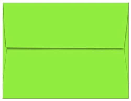 A2 Astrobright Martian Green Envelopes - Straight Flap, 60T, 1000 Pack