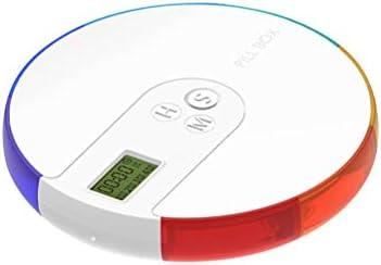 Yardwe Pastillero Electrónico Automático con Alarma para Dispensador Píldora Medicamentos Vitamina de Semanal y Mensual: Amazon.es: Hogar