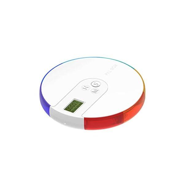NICEXMAS - Pastillero digital portátil con indicador de fecha de alarma, pastillero inteligente con recordatorio 2