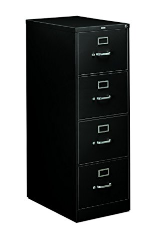(HON 4-Drawer Legal File - Full-Suspension Filing Cabinet, 26-1/2-Inch Black (H314) )
