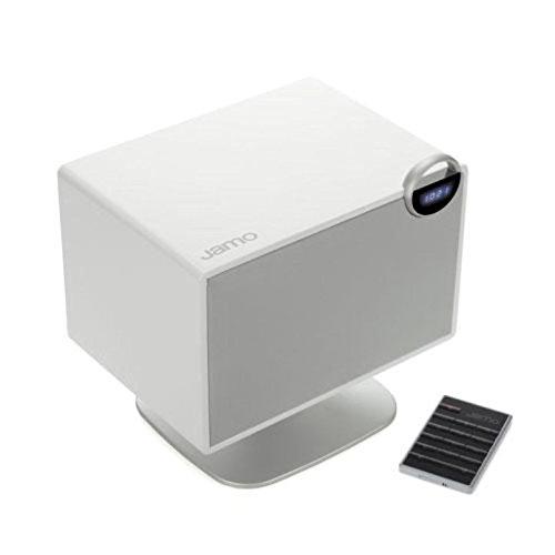 JAMO by Klipsch Speakers | DS-6 | Premium Wireless Bluetooth Speakers/Radio Bluetooth Speaker - Wireless Radio Speaker System, Vintage Speakers, Designer Bookshelf Speakers, PC/Desk (White)