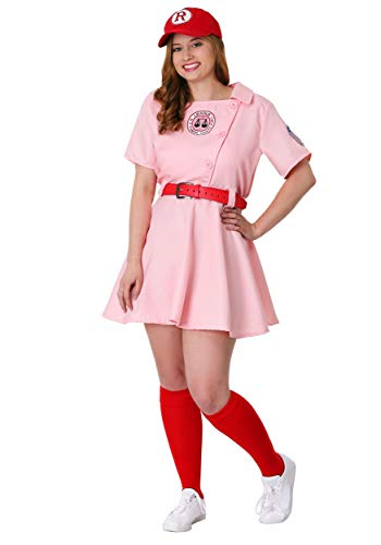 League of Their Own Dottie Plus Size Womens Costume Set 3X Pink