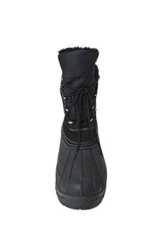 Mens Waterproof Lace-up Comfort Cold Winter Snow Boots (Y05) Black D3iTZrjoUj