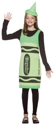 Costumes Blue Crayola Tank Dress Child Sky (Crayola Crayon Tank Dress Tween Costume Screamin' Green -)