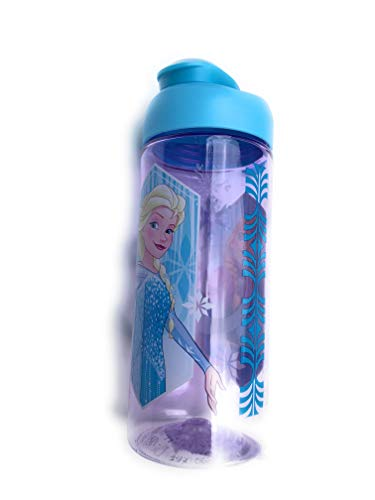Girl Design Snap - Zak Designs BPA Free 16.5 oz Boys & Girls Licensed Character Cold Water Bottles -Carry Loop & Snap Lid (frozen)