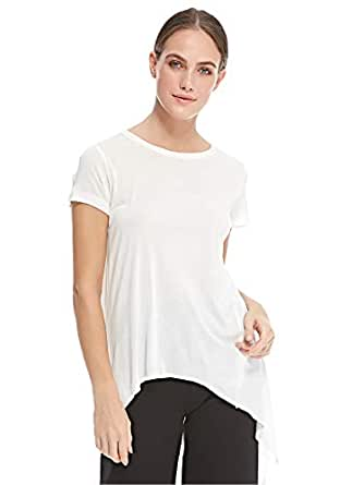 Stradivarius Asymmetrical Tops For Women L, White