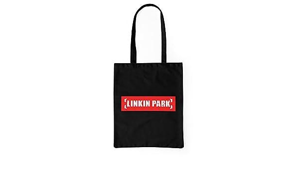 3be80caee LaMAGLIERIA Bolsa de Tela Linkin Park Red White Logo - Tote Bag Shopping  Bag 100% algodòn, Negro: Amazon.es: Hogar