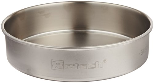 Retsch 69.720.3050 Stainless Steel Collecting Pan for Vibratory Sieve Shaker, 203mm Diameter x 51mm Height