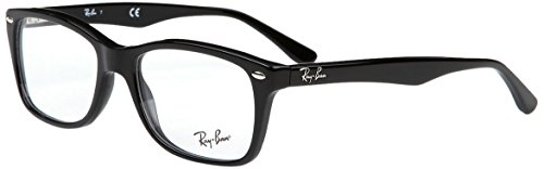 Ray Ban Eyeglasses RX5228 2000 Black/Demo Lenses - Mens Eyeglasses Italian