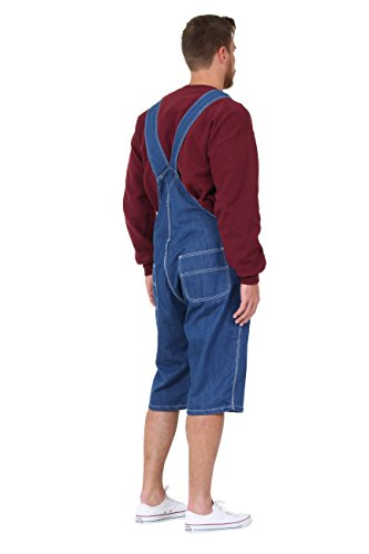 Herren Latzhose Overall Shorts Lightwash kurze latzhose latz shorts BLAKESW