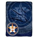 Northwest Houston Astros Mlb Royal Plush Raschel Blanket (retro Series) (50in X 60in)