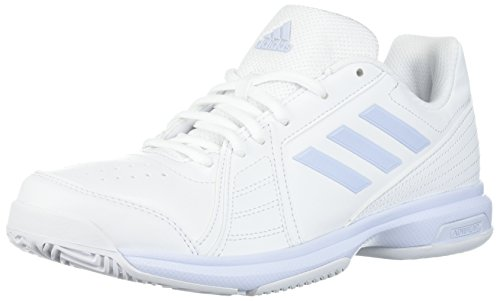 adidas Women's Aspire Tennis Shoe, White/Aero Blue/White, 5 M US