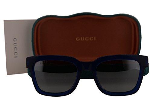 Gucci GG0001S Sunglasses Shiny Opal Blue w/Silver Mirror Lens 004 GG - 2017 New Sunglasses Gucci