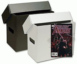 10 Short Plastic Comic Book Storage Boxes - Black by Comictopia