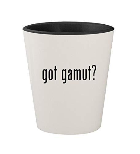 - got gamut? - Ceramic White Outer & Black Inner 1.5oz Shot Glass