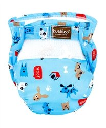 Kushies Ultra Lite All in One Diapers - Toddler - Woof Blue