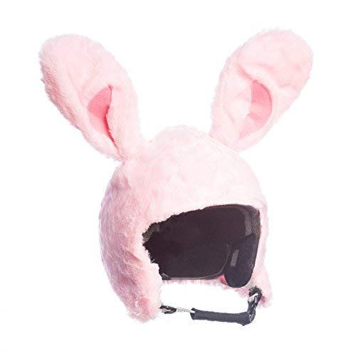 Skihelm Verkleidung Hase Bunny rosa, Überzug,