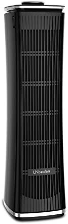 UNbeaten Tower Air Purifiers, True HEPA with Charcoal Air Filters, Allergen Reducing Air Cleaner, 3 Year Warranty Odor Eliminator for Smokers, Traps Smoke, Dust, Mold, Home Pets Dander Purifying
