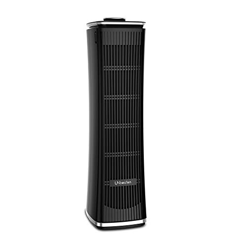 Tower Air Purifiers True HEPA with Charcoal Air Filters, Allergen Reducing Air Cleaner, 3 Year Warranty,Odor Eliminator for Smokers, Traps Smoke, Dust, Mold, Home Pets Dander Purifying, UN093