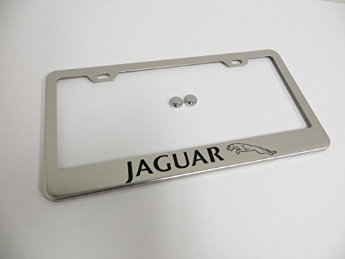 Jaguar Stainless Steel Chrome License Plate Frame Holder Tag by Deepro