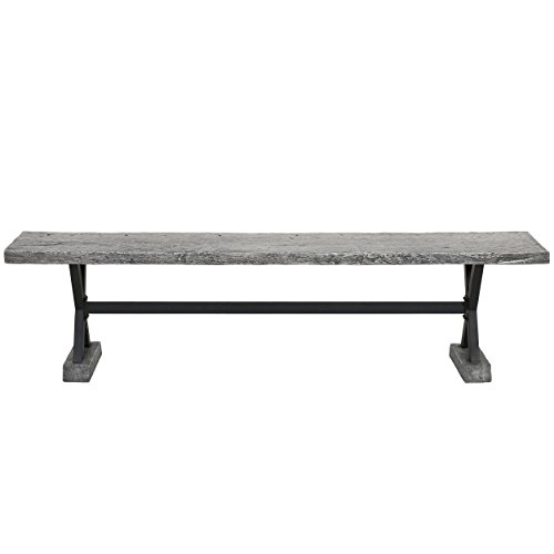 GDF Studio Catelyn Outdoor Concrete and Steel Dining Bench (Grey) Review