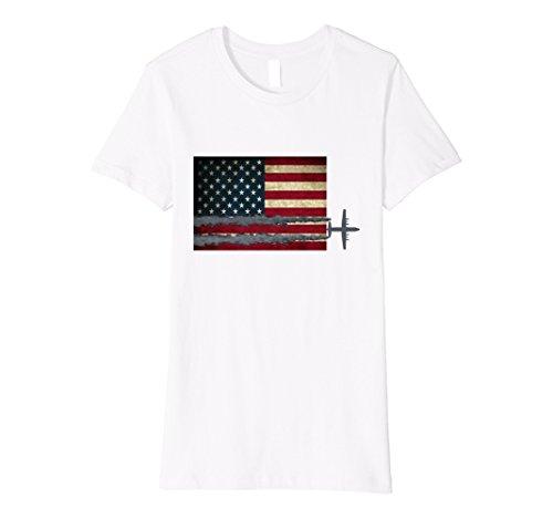 Womens Smokey Lines of Freedom XL White