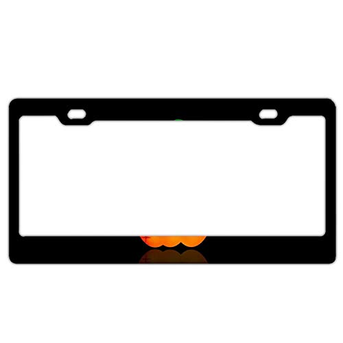 YEX Abstract Pumpkin Halloween Eyes7 License Plate Frame Car Licence Plate Covers Auto Tag Holder 6