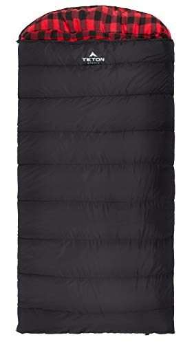 TETON Sports 101R  Celsius XXL -18C/0F Sleeping Bag; 0 Degree Sleeping Bag Great for Cold Weather Camping; Black, Right Zip (Renewed)