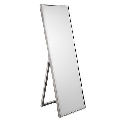 Amazon.com: Cheval Thin Profile Floor Standing Mirror in Silver ...
