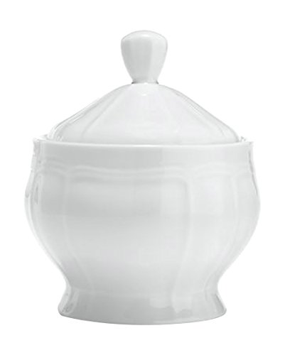 Mikasa Antique White Covered Sugar Bowl