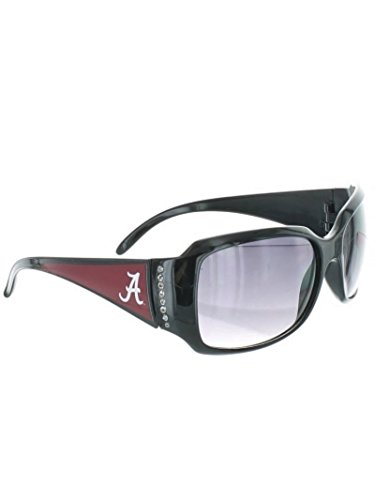 Chantilly Crystal (Alabama Crimson Tide Black Chantilly Style Sunglasses with Logo and Crystal Clear Rhinestones)