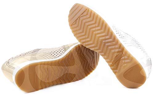 9106 3cm En piel España Corte Casual tacón Extraíble Platino plantilla Y forro Zapatos piel piel Estil fabricado q7E7BA