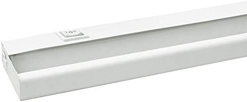 21 in. LED Under Cabinet Light Fixture 7W White Hardwired or Portable Amax Lighting LEDUC21WHT