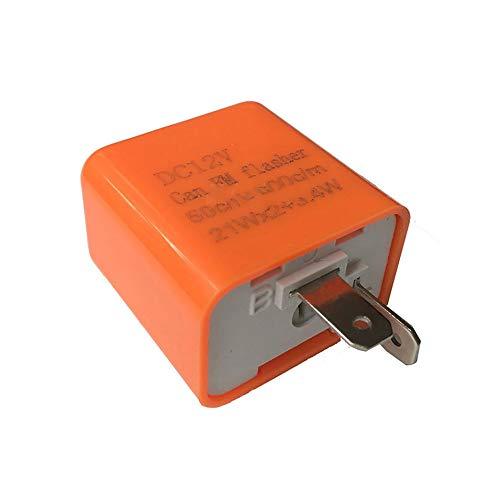 ARDUTE Multifunktionale 2 Pin Geschwindigkeit Einstellbar Led-anzeige Wasserdicht Blinkrelais Widerstand Fix Flash F/ür Motorrad 12 V