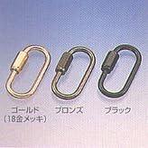 水本 ステンレス 高級ミニチェーン用リングキャッチゴールド 線径2.5mm SHG