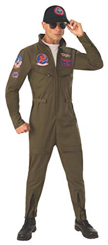 Top Gun Men's Jumpsuit Costume Large