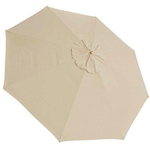13FT 8 Ribs Umbrella Cover Canopy Tan Replacement Top Patio Market Outdoor Beach