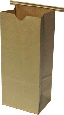 Bag Ties Poly - Resealable Kraft Tin Tie Poly-lined Bags - 1/2 Lb - 50 Pack