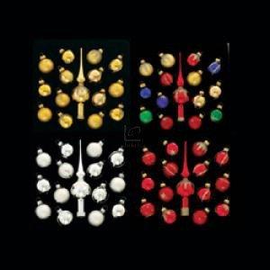 Kurt Adler Glass Miniature Decorative Ornaments 60 Pc,