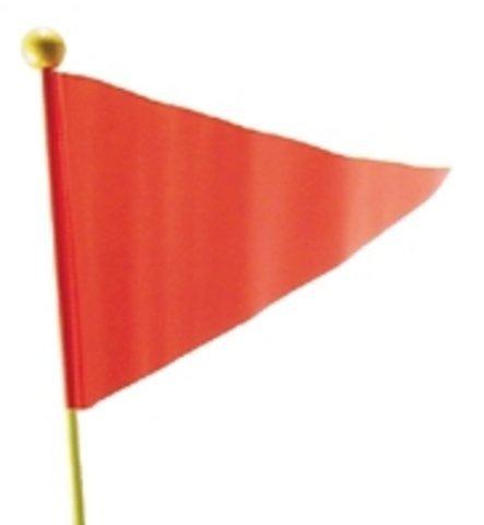 Sicherheitswimpel farbig (gelb und rot sortiert) - Damit Ihr Kind im Straßenverkehr nicht übersehen wird, hochflexibler Glasfiberstab 175 cm lang, Kunststoffummantelt, splitterfrei
