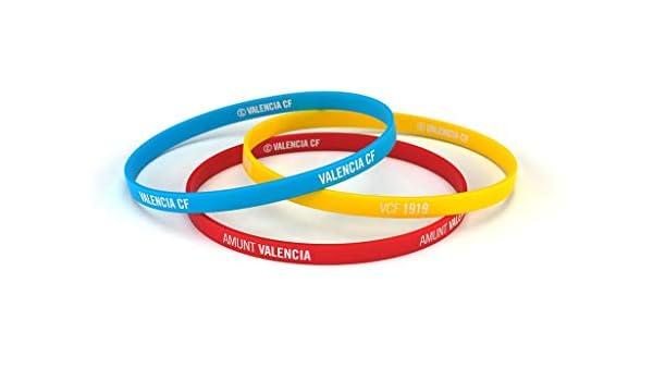 Valencia Club de Fútbol Pulsera Classic Tricolor Escudo Estándar para Hombre | Pulsera Valencia de Silicona | Apoya al Valencia CF con un Producto Oficial | VCF: Amazon.es: Deportes y aire libre
