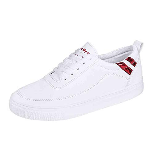 Women's Casual Walking Shoes Breathable Mesh Work Slip-on Sneakers Advantage Fashion Sneaker Low Top Wild Lace Up Shoes Red