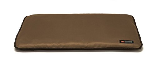 Big Shrimpy Landing Pad Faux Suede Crate Mat For Dogs & Cats, Large, Walnut