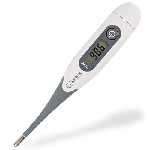 Best Medical Digital Oral Thermometer for Fever - Adults Kids and Baby - Easy Accurate and Fast 10 Sec Reading - Body Temperature Thermometer, by Mouth, Rectal and Underarm - FDA Approved