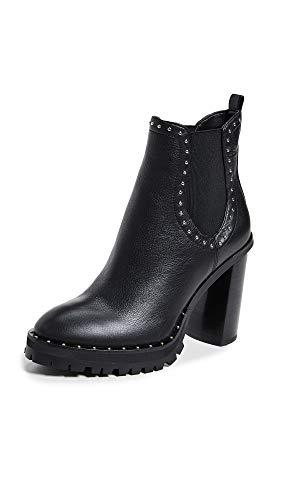 Rebecca Minkoff Women's Edolie Block Heel Chelsea Boots, Black, 8 M US